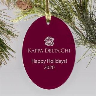Kappa Delta Chi Holiday Color Mascot Christmas Ornament