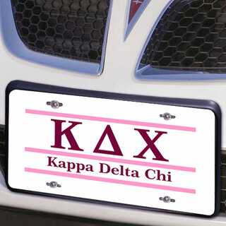 Kappa Delta Chi Lettered Lines License Cover