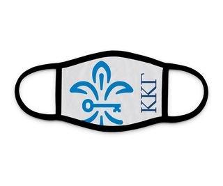 Kappa Kappa Gamma Fleur De Lis Mark Face Mask