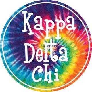 Kappa Delta Chi Tie-Dye Circle Sticker