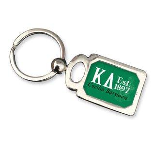 Kappa Delta Chrome Crest Key Chain