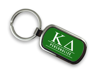 Kappa Delta Chrome Custom Keychain