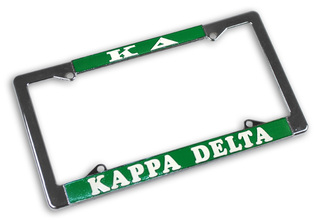 Kappa Delta Chrome License Plate Frames