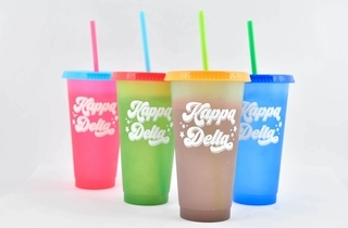 Kappa Delta Color Changing Cups (Set of 4)