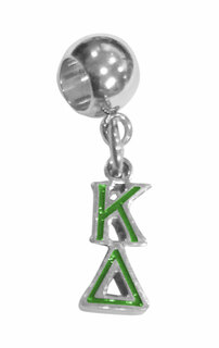 Kappa Delta Color Filled Stainless Lavaliere Necklace - ON SALE!