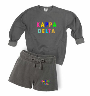 Kappa Delta Comfort Colors Crew and Short Set