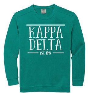 Kappa Delta Comfort Colors Custom Crewneck Sweatshirt