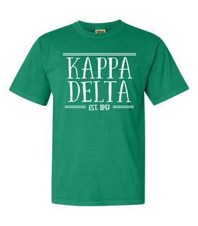 Kappa Delta Comfort Colors Custom Heavyweight T-Shirt