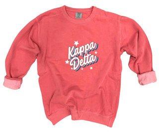 Kappa Delta Comfort Colors Flashback Crew