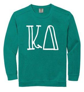 Kappa Delta Comfort Colors Greek Crewneck Sweatshirt