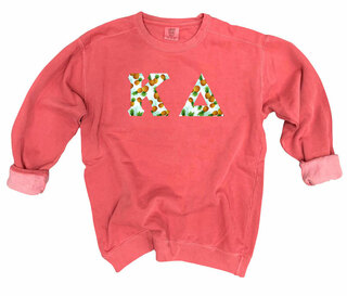 Kappa Delta Comfort Colors Lettered Crewneck Sweatshirt