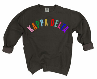 Kappa Delta Comfort Colors Rainbow Arch Crew