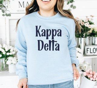 Kappa Delta Comfort Colors Rosie Crew