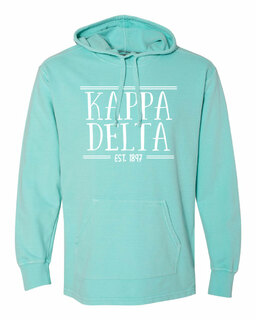Kappa Delta Comfort Colors Terry Scuba Neck Custom Hooded Pullover
