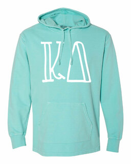 Kappa Delta Comfort Colors - Terry Scuba Neck Greek Hooded Pullover
