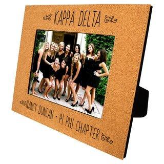 Kappa Delta Cork Photo Frame