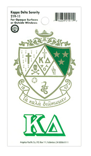 Kappa Delta Crest Decals