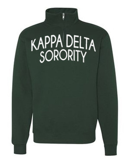 Kappa Delta Over Zipper Quarter Zipper Sweatshirt
