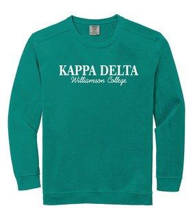Kappa Delta Script Comfort Colors Greek Crewneck Sweatshirt