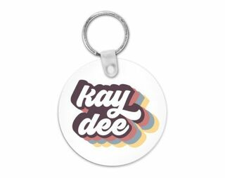 Kappa Delta Retro Script Keychain