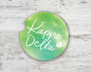 Kappa Delta Sandstone Car Cup Holder Coaster