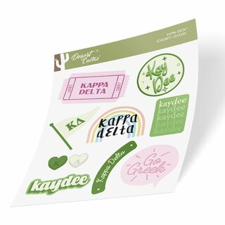 Kappa Delta Cute Sticker Sheet