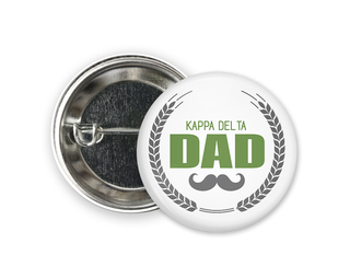 Kappa Delta Dadstache Button