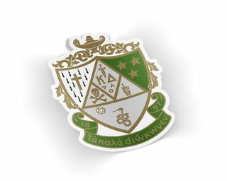 Kappa Delta Die Cut Crest Sticker
