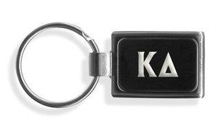 Kappa Delta Engraved Chrome Keychains