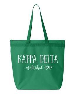 Kappa Delta Established Tote bag