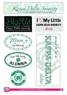 Kappa Delta Family Sticker Sheet
