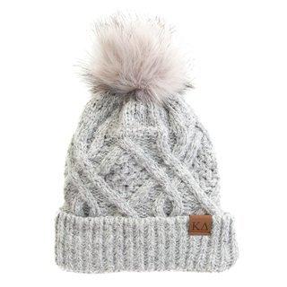 Kappa Delta Faux Fur Pom Beanie Hat