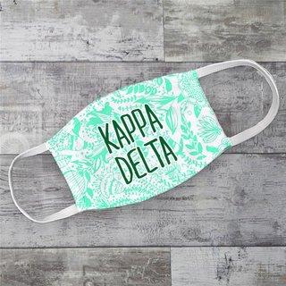 Kappa Delta Floral Face Mask