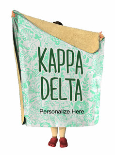 Kappa Delta Floral Sherpa Lap Blanket