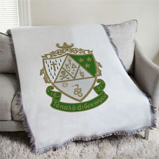 Kappa Delta Full Color Crest Afghan Blanket Throw