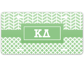 Kappa Delta Geometric License Plate