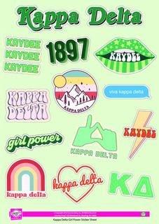 Kappa Delta Girl Power Stickers