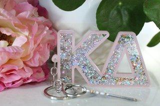 Kappa Delta Glitter Keychain