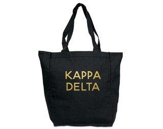 Kappa Delta Gold Foil Tote bag