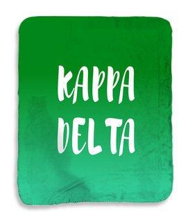 Kappa Delta Gradient Sherpa Lap Blanket