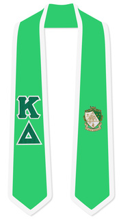 Kappa Delta Greek 2 Tone Lettered Graduation Sash Stole