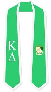 DISCOUNT-Kappa Delta Greek 2 Tone Lettered Graduation Sash Stole
