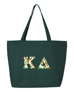 Kappa Delta Greek Letter Zipper Tote