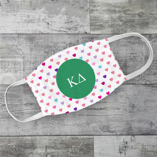 Kappa Delta Hearts Face Mask