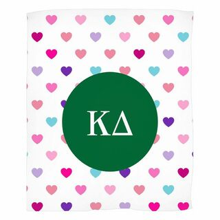 Kappa Delta Hearts Fleece Blanket