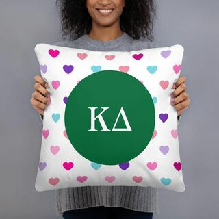 Kappa Delta Hearts Pillow