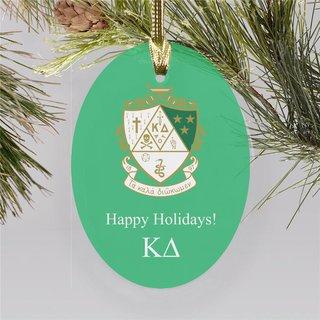 Kappa Delta Holiday Color Crest - Shield Ornament
