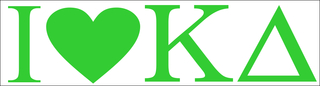 Kappa Delta I Love Bumper Sticker