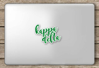 Kappa Delta Script Sticker