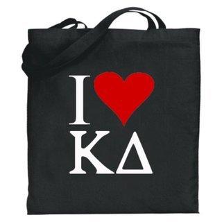 Kappa Delta I Love Tote Bags